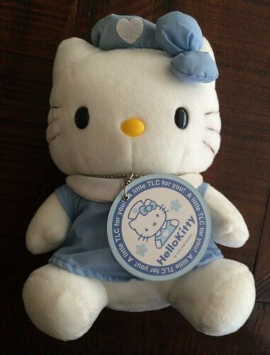 Sanrio Hello Kitty Blue Messenger Costume Plush Toy Doll Vintage Pre-owned wtag
