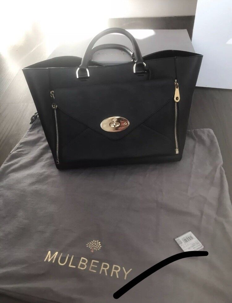 d4f34abf49 Mulberry willow tote bag large black