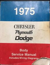 1975 Chrysler Plymouth Dodge Body Service Manual Wiring ...
