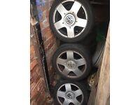 "5x100 VW MK4 golf Alloys 15"""
