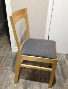 3 IKEA Wooden Dining Chairs