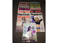 Women's Health Magazines and one Zest magazine Very Good Condition 30 All Together