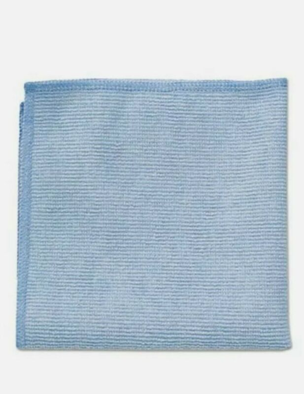 24 pack Rubbermaid Commercial Microfiber Cleaning Cloths 16 x 16 Blue