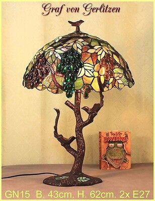 Graf von Gerlitzen Tiffany Tisch Lampe Leuchte Tiffanylampe Tischlampe GN15