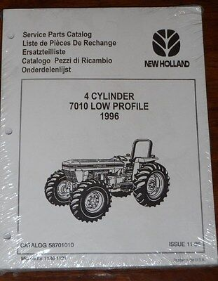 New Holland 4 Cylinder 7010 Low Profile 1996 Parts Manual