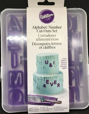 Wilton Alphabet Number cake Fondant Cut-Out Set 42 piece Wilton #417-7554