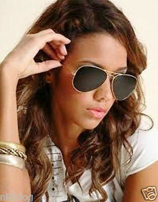 Extra Large Aviator Sunglasses Gold Frame Dark Black Lenses Oversized (Black Sunglasses Gold Frame)