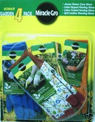 MiracleGro Premium 4Pk Gloves Protective Gear Home Yard Garden Wear