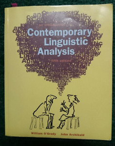 An Introduction Contemporary Linguistic Analysis 5th Ed O'Grady