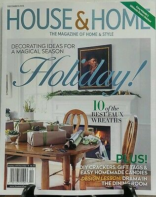 House & Home Dec 2016 Holiday Decorating Ideas Best Wreaths FREE SHIPPING