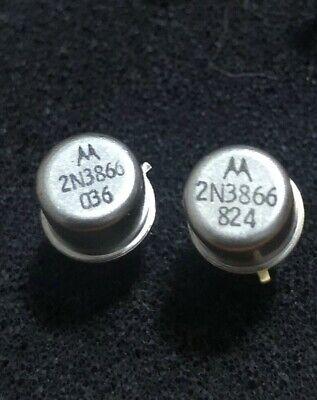 2 Pc. New Motorola 2n3866 Npn Bjt Rf Transistor 30v 800 Mhz 5w 400ma 10hfe