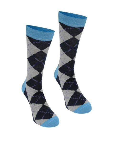 Gifts For Men HAPPY SOCKS Argyle Diamond Pair Mens Blue Grey Purple UK 7½-11½