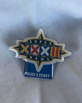 New Bud Light Super Bowl XXXII Pin SB32 Packers Broncos