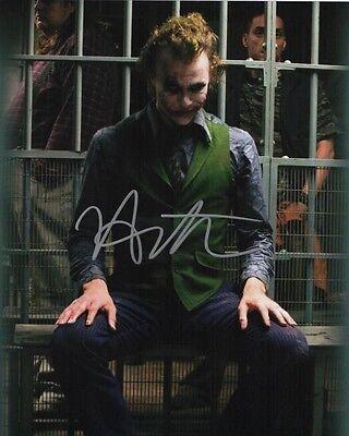 Heath Ledger The Joker Batman Autographed 8x10 Signed Photo Reprint