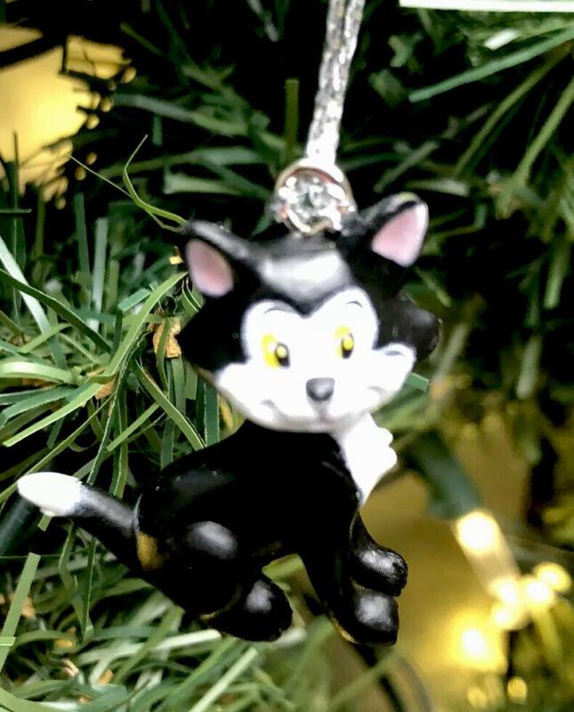 2021 Disney Figaro Tuxedo Black Cat Minnie Mouse Pet Christmas Tree Ornament New