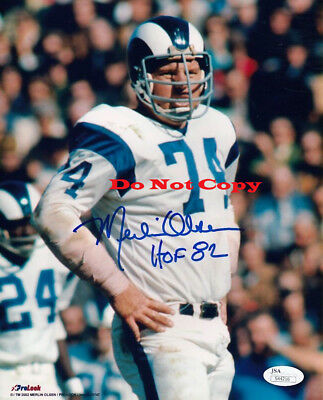 Merlin Olsen HOF 82 Signed Rams 8x10  Autographed photo Reprint  - Merlin Olsen Autographed Rams
