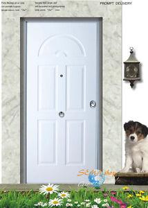 Porta blindata laccato bianco bugnato arco cl 3 portone - Porta blindata esterno ...