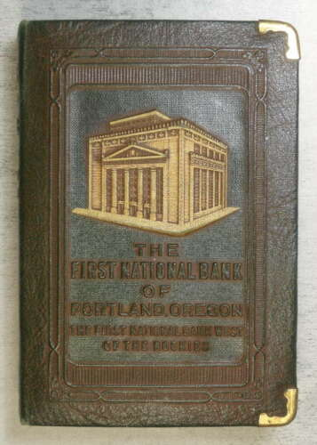 "Promotional ""Savings Book"" Coin Bank, 1st National Bank, Portland, OR    0713-98"