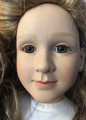 My Twinn 1997 Doll Green Eyes Blonde Hair Freckles ~ RARE