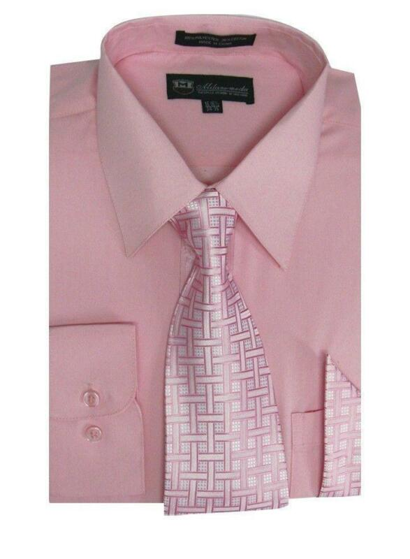 Mens Pink Shirt and Tie | eBay