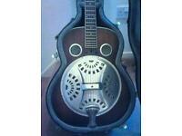 Ozark resonator distressed slide guitar