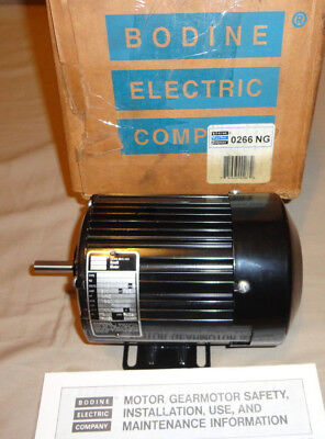 Bodine 42r5bfsy Electric Motor 112 Hp 1800 Rpm 115vac 1 Phase 266ng6049 New