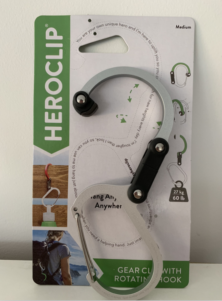 HEROCLIP Carabiner Clip and Hook For Camping Backpack and Ga