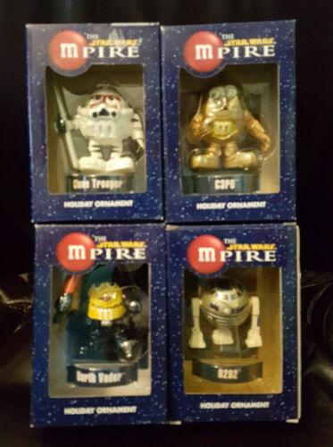Star Wars MPire Holiday Ornaments - 2005 Lot of 4 Vader, Trooper, C3P0, R2D2 MIP