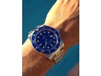 Rolex Oyster Perpetual Watch Blue Bezel & Blue Face