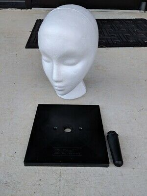 Giell 10 Styrofoam Female Wig Head Display With Square Base Holder
