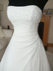 Corset Maggie Sottero Couture A-Line Ivory Wedding Dresses Size 10 - professionally cleaned