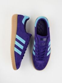 adidas bermudas purple blue limited editions UK SIZE 7 great condition