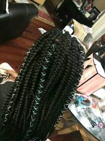 BOXBRAIDS TWISTS CORNROWS CROCHETBRAIDS FAUXLOCS ANY STYLE ANY DESIGN FROM £40