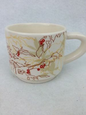 Starbucks Coffee New Zealand Ceramic Mug Cup Abstract Bean Plant Leave Berries 2009