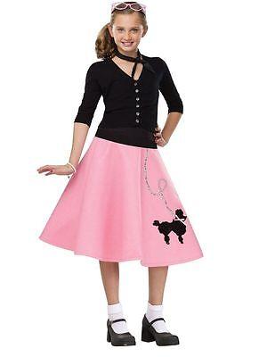 50s Poodle Skirt - Child Costume (50s Kids Costume)