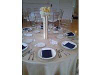 Silver beaded clear glass charger plate for hire
