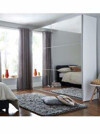 IKEA Pax Sliding Mirror Doors Wardrobe with 4+ shelves