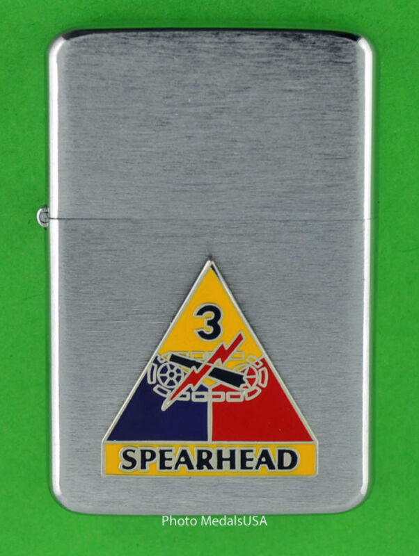3rd ARMORED DIVISION WINDPROOF PREMIUM LIGHTER &GIFT BOX ARMY ACR SBC138