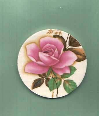 Mosaic Tiles Hand made pink rose garden  focal flower kiln fired ceramic R532