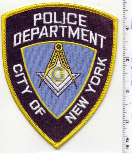 New York City Police Free Masons Shoulder Patch