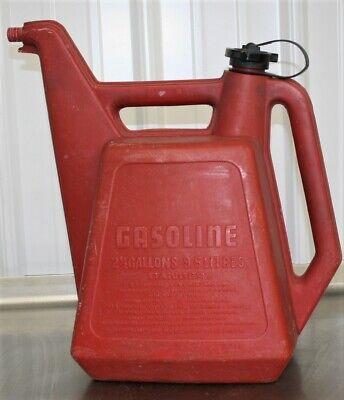 Rare Unique Vintage 2.5 Gallon Plastic Gas Can Vented Fuel Gas