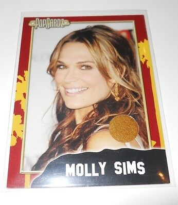 PopCardz Costume Trading Card #12 Actor Molly Sims (V.2) (Sims Costume)
