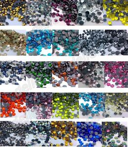 7200-Iron-On-Hotfix-Crystal-Rhinestones-Many-Colors-SS10-SS16-SS20