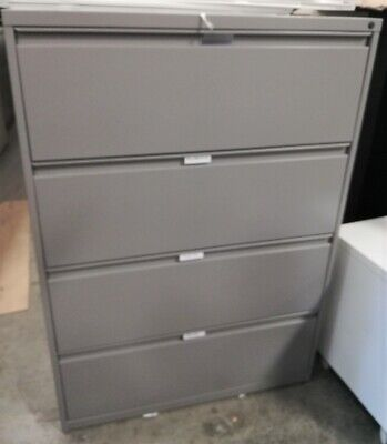 Lateral File Cabinets -4 Drawer - Local Pick-up-very Good Condition Beigeblack