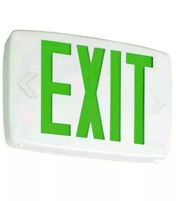 Lithonia Lighting Quantum Thermoplastic Led Emergency Exit Sign Green - 142an7