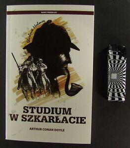 SHERLOCK HOLMES Arthur Conan Doyle - Studium w szkarlacie polish issue by ALGO - <span itemprop=availableAtOrFrom>europe, Polska</span> - Zwroty są przyjmowane - europe, Polska