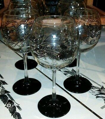 NEW Disney Parks BE OUR GUEST Black Stemmed GOBLET Wine Glass Lumiere Chalkboard