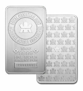 Brand new 10 oz. silver bars - $3.50/oz. over spot!