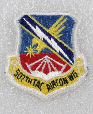 - USAF Air Force Patch: 507th Tactical Air Control Wing - med blue w/red base