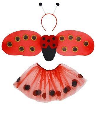 Kostüm Marienkäfer Universalgröße (Tütü, Flügel, Antennen) Karneval Fasching (Kostüm Antenne)